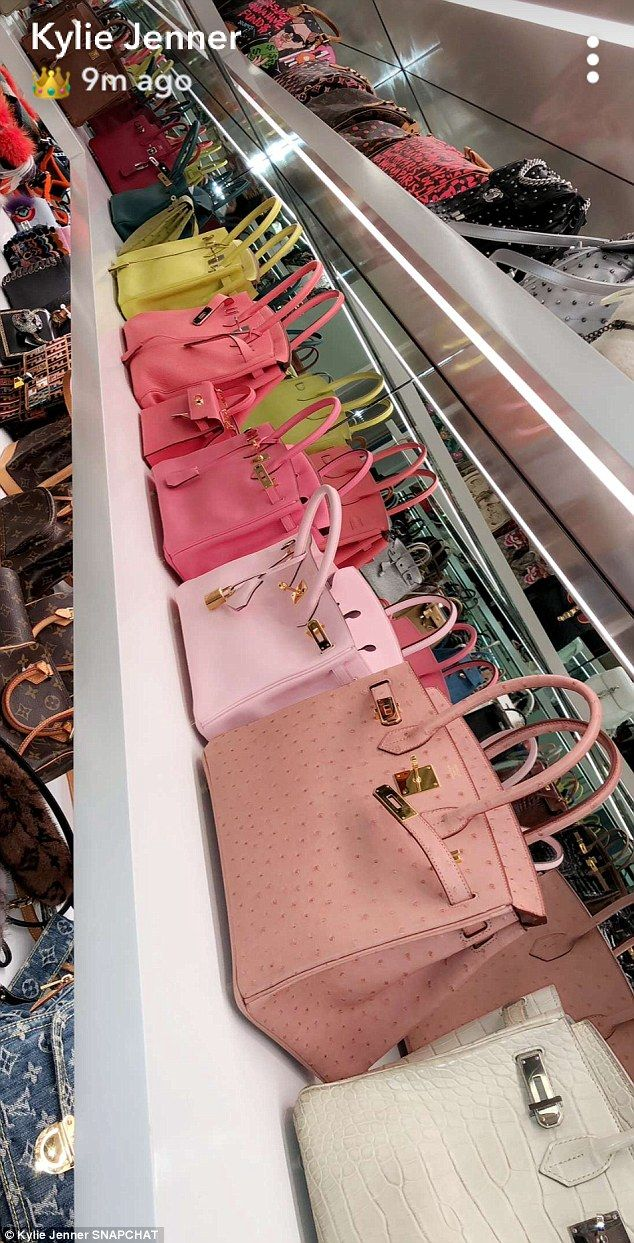 Expensive taste Her rainbow hued collection of Hermes