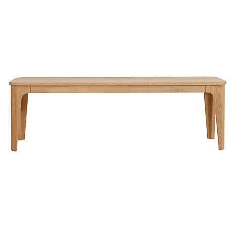 a335bf1cda25 Buy Ebbe Gehl for John Lewis Mira 3-Seater Dining Bench, White And Oak  Online at johnlewis.com