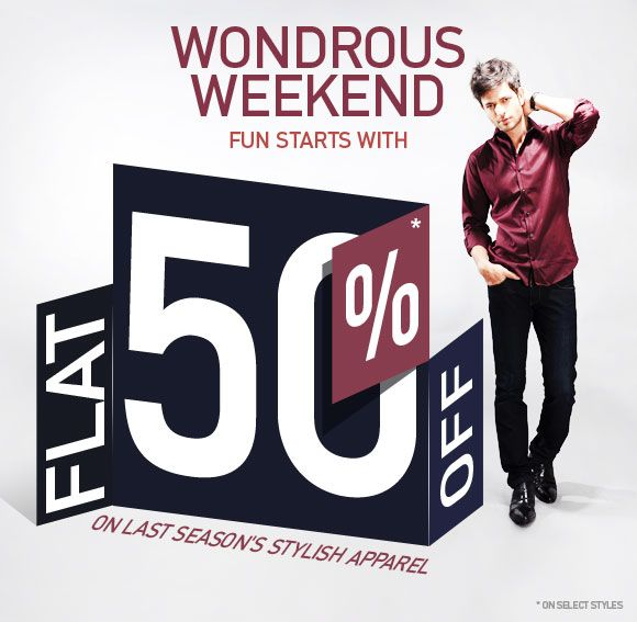 Flat 50% off On Mens Clothing, Womens clothing And Fashion Jewellery At  Amazon