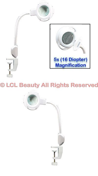 Magnifying Lamps: New 5X Magnification (16) Diopter White Clamp ...