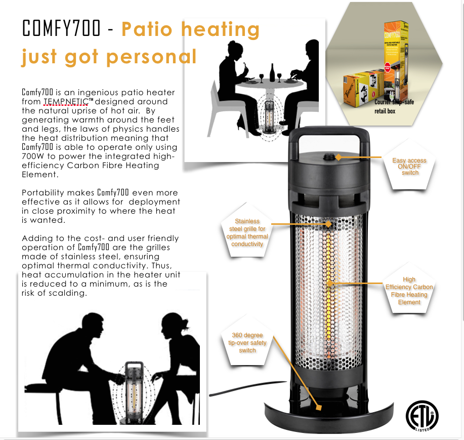 Tempnetic north america llc free standing heaters astoria living
