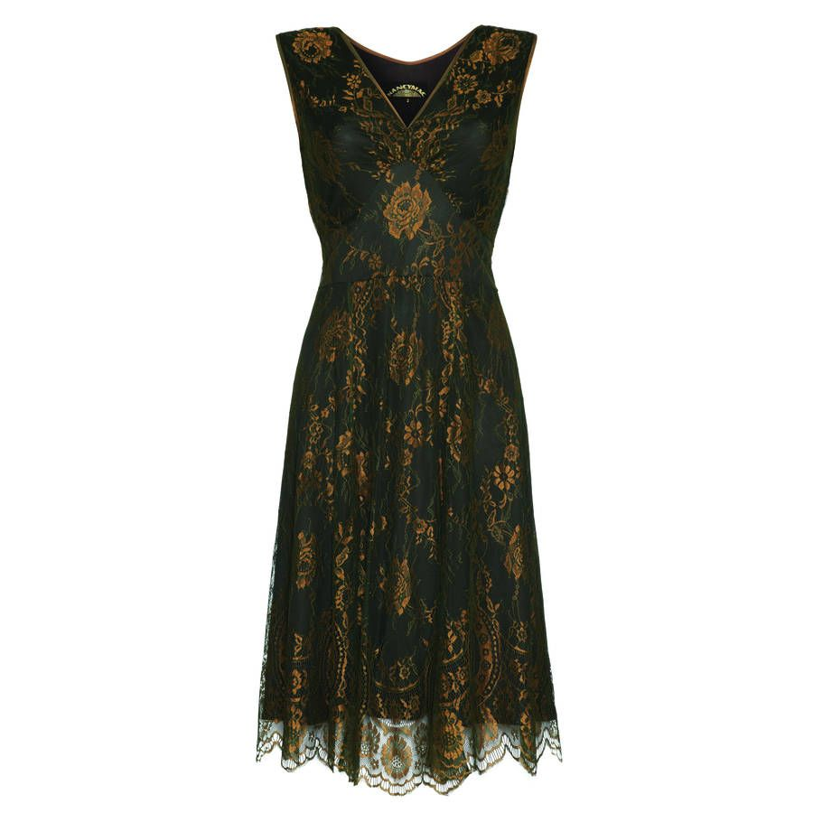 Special occasion lace dress green and gold gold lace and gold lace