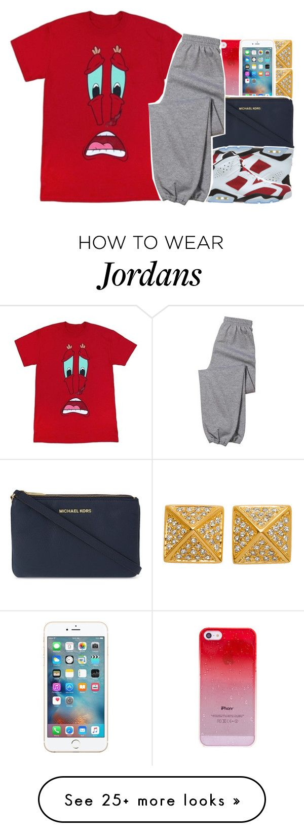 """•"" by abigail-petion on Polyvore featuring Majolie Collections, MICHAEL Michael Kors, NIKE and Gildan"