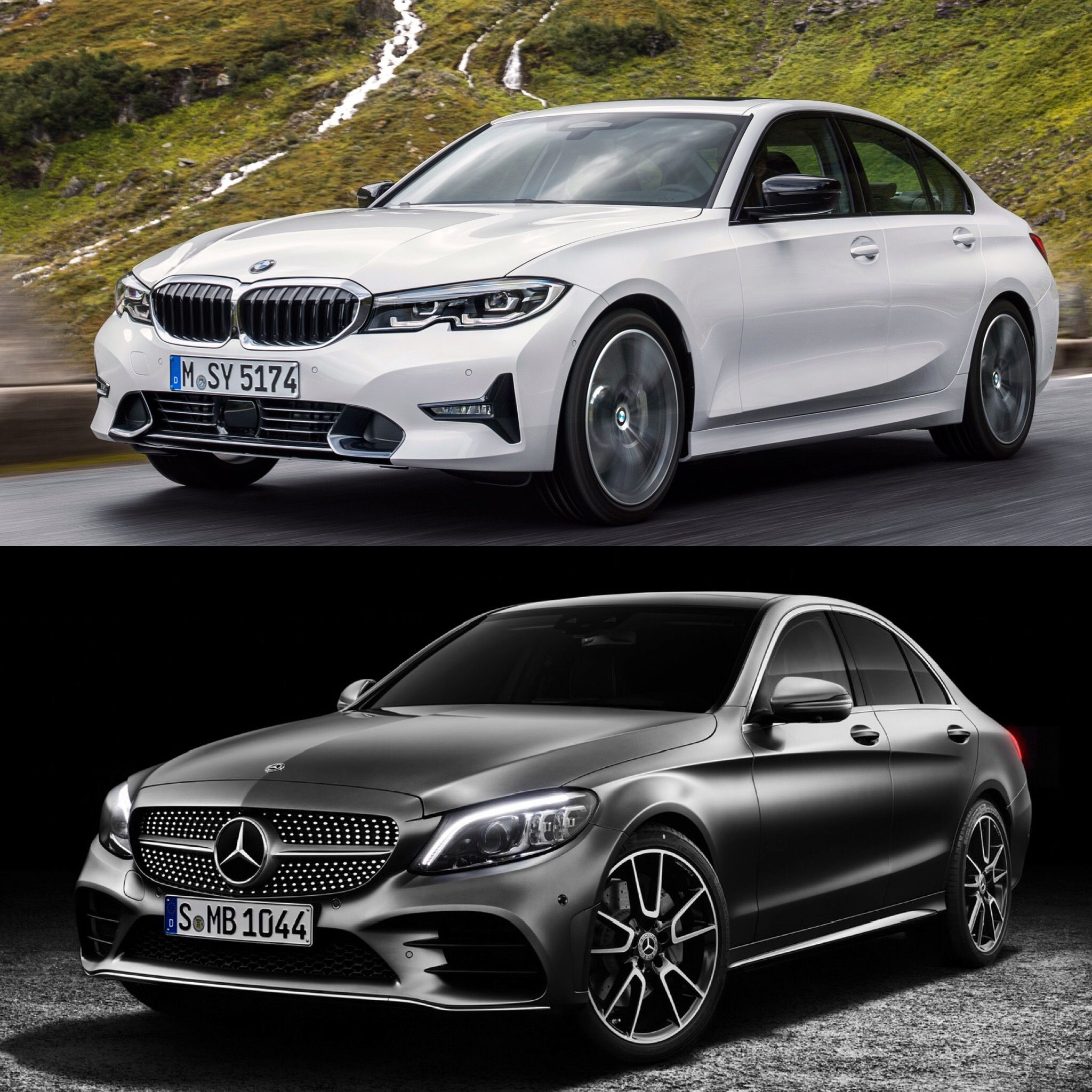 Photo Comparison G20 Bmw 3 Series Vs Mercedes Benz C Class Bmw Mercedes Benz Bmw 3 Series