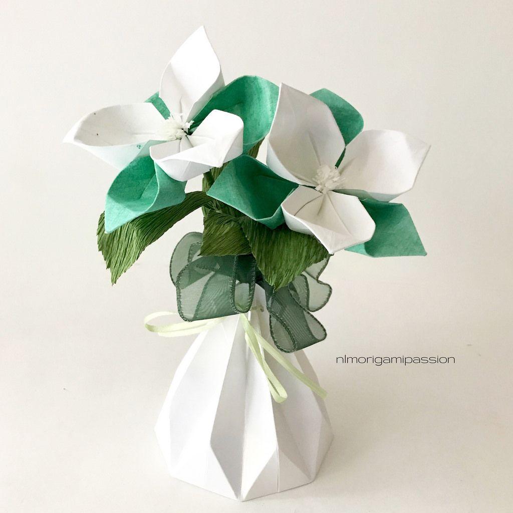 Classy wildflower by nlmorigamipassion kirei pinterest small flower arrangements with vase jeuxipadfo Gallery