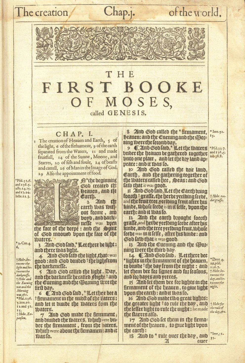 1611 King James Bible First Edition Genesis Title Faith Bible Oldest Bible Bible