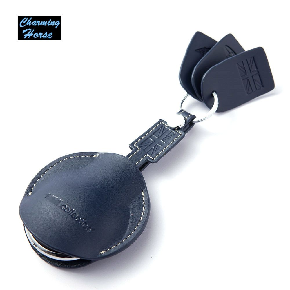 Car Leather Key Fob Shell Bag Holder Case Cover Key Chain For BMW