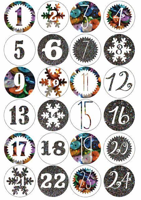 tiquettes pour calendrier de l 39 avent saisons et jours de f te pinterest avent calendrier. Black Bedroom Furniture Sets. Home Design Ideas
