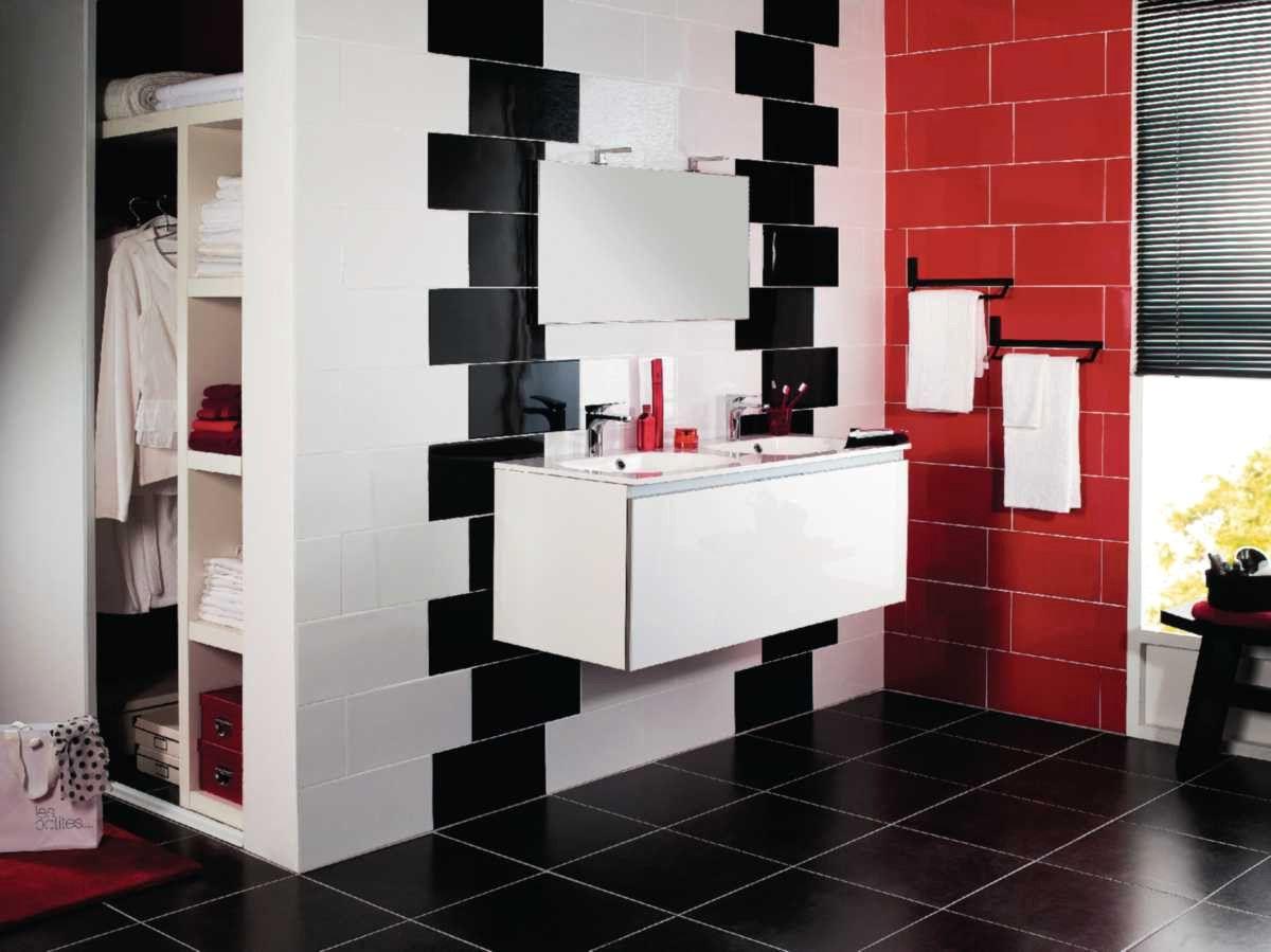 Carrelage Salle De Bain Noir Et Blanc Inspirations Avec ...