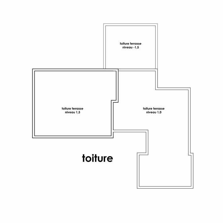 plan maison moderne toit plat toiture Pomysły do domu Pinterest