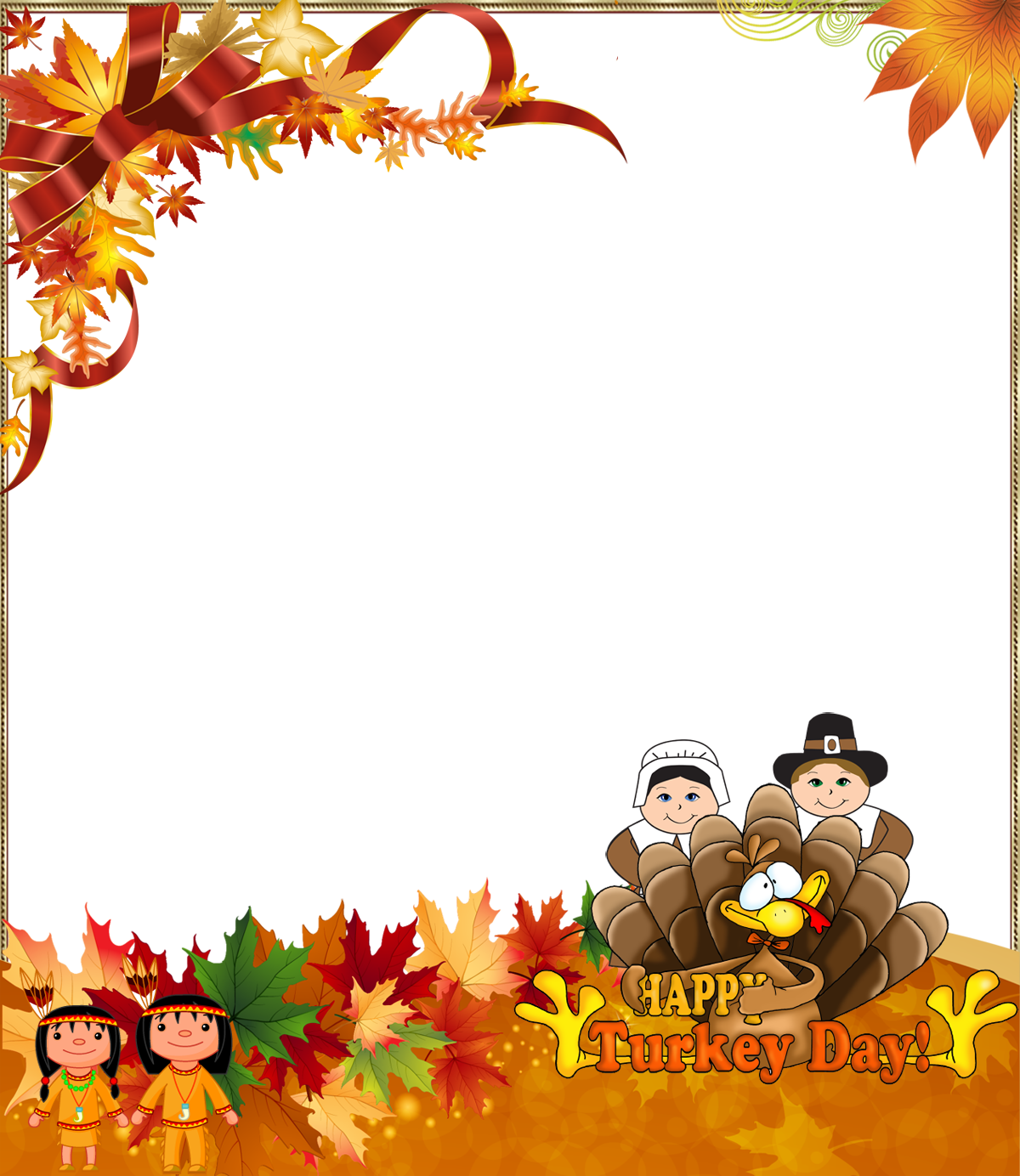 Thanksgiving Png Photo Frame Happy Turkey Day Gallery Yopriceville High Quality Images And Thanksgiving Background Thanksgiving Wallpaper Thanksgiving Art