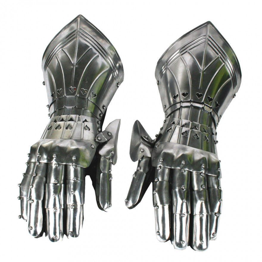 Medieval Knight Gauntlets Functional Armor Gloves Adult Medieval Halloween Gift