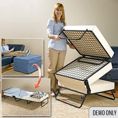 Sleep Ottoman Fold Out Single Bed Cover 198cm Rv