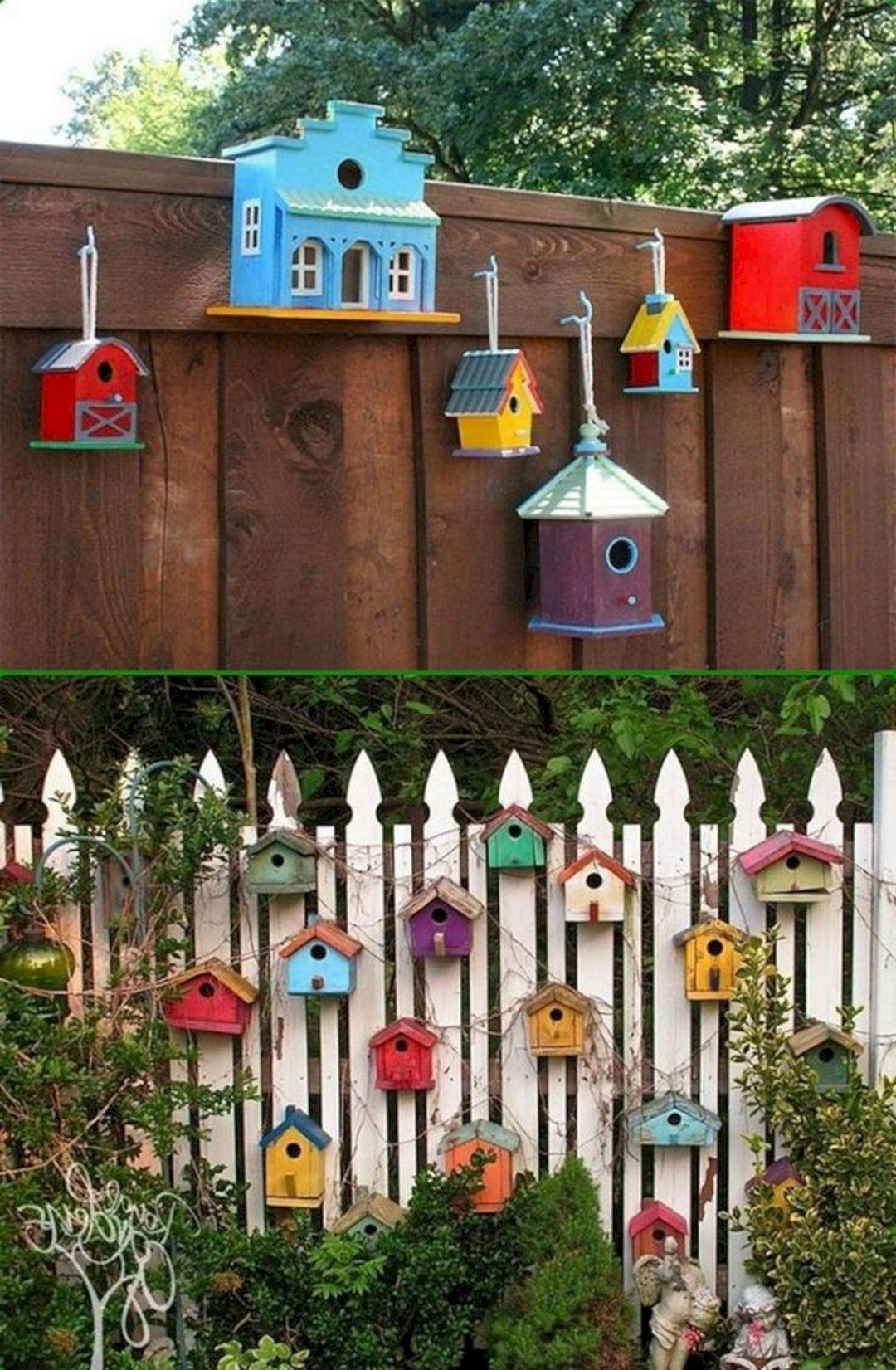 15 awesome birdhouse ideas to make your beautiful garden on backyard garden fence decor ideas id=59619
