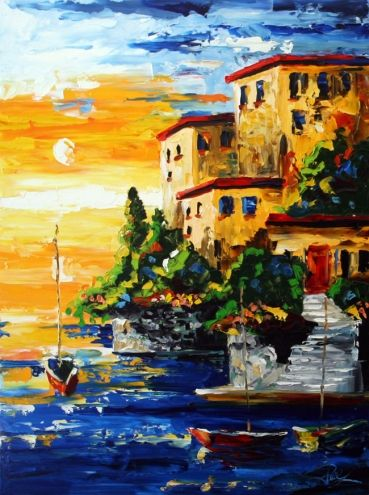 Three Boat Sunrise Landscape Paintings By Laurie Pace By Artist Laurie Justus Pace On Dailypainters Com