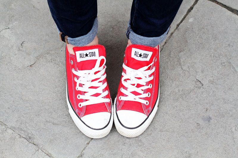 scarpe converse rosse