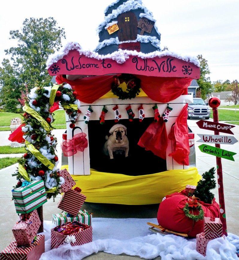 Trunk or treat The Grinch stole Christmas! #trunkortreatideasforcarsforchurch