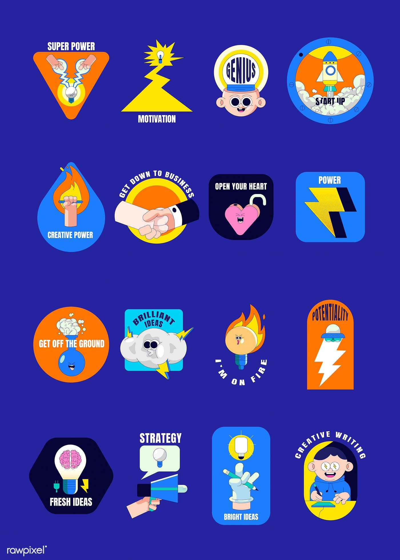 Download premium vector of Creative motivational badge