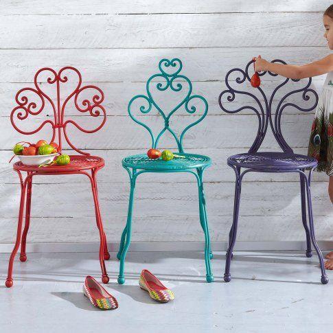 Stuhl in türkis, rot, violett bei IMPRESSIONENAT Chairs - haus einrichten moebel helle farben