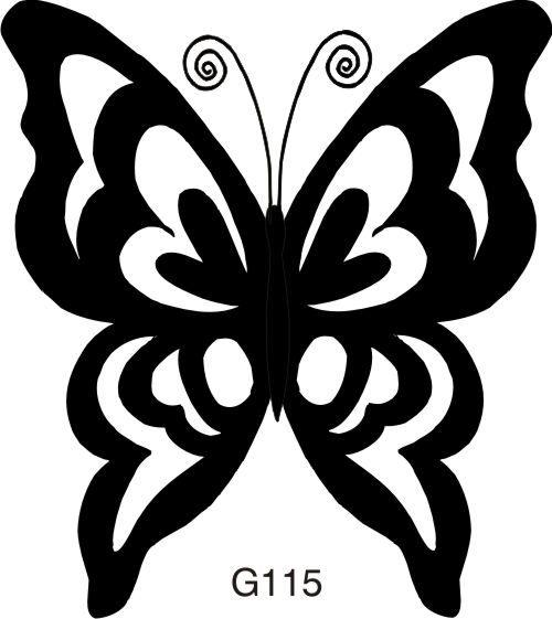 Large Open Silhouette Butterfly #butterflies