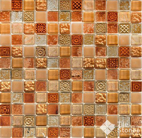 Mayan Terra Mosaic Tile Traditional Kitchen Orange County Stones