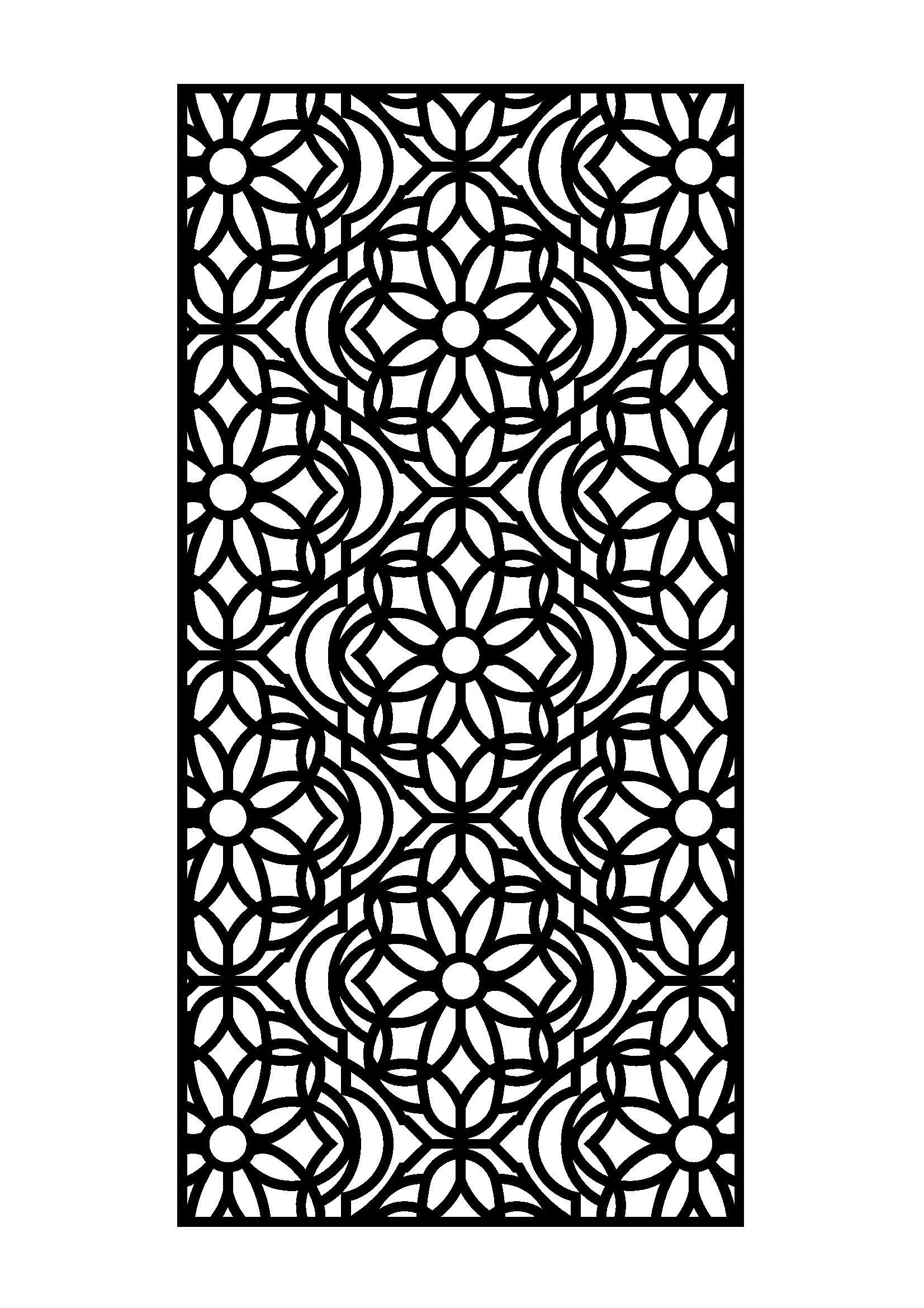 6mm MDF Fret Cut Wall Panel
