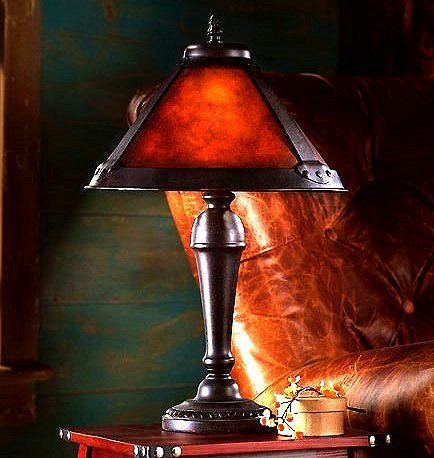 Mission Craftsman Mica Accent Table Lamp Craftsman Lamps Antique Lighting Stained Glass Lamps