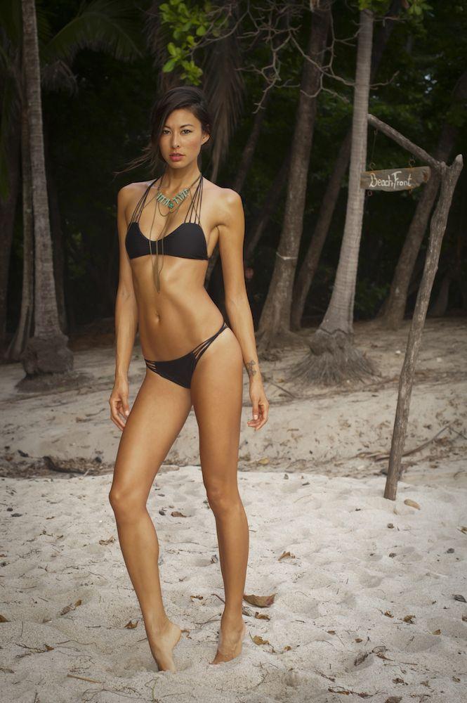 Asian bikini butt oil