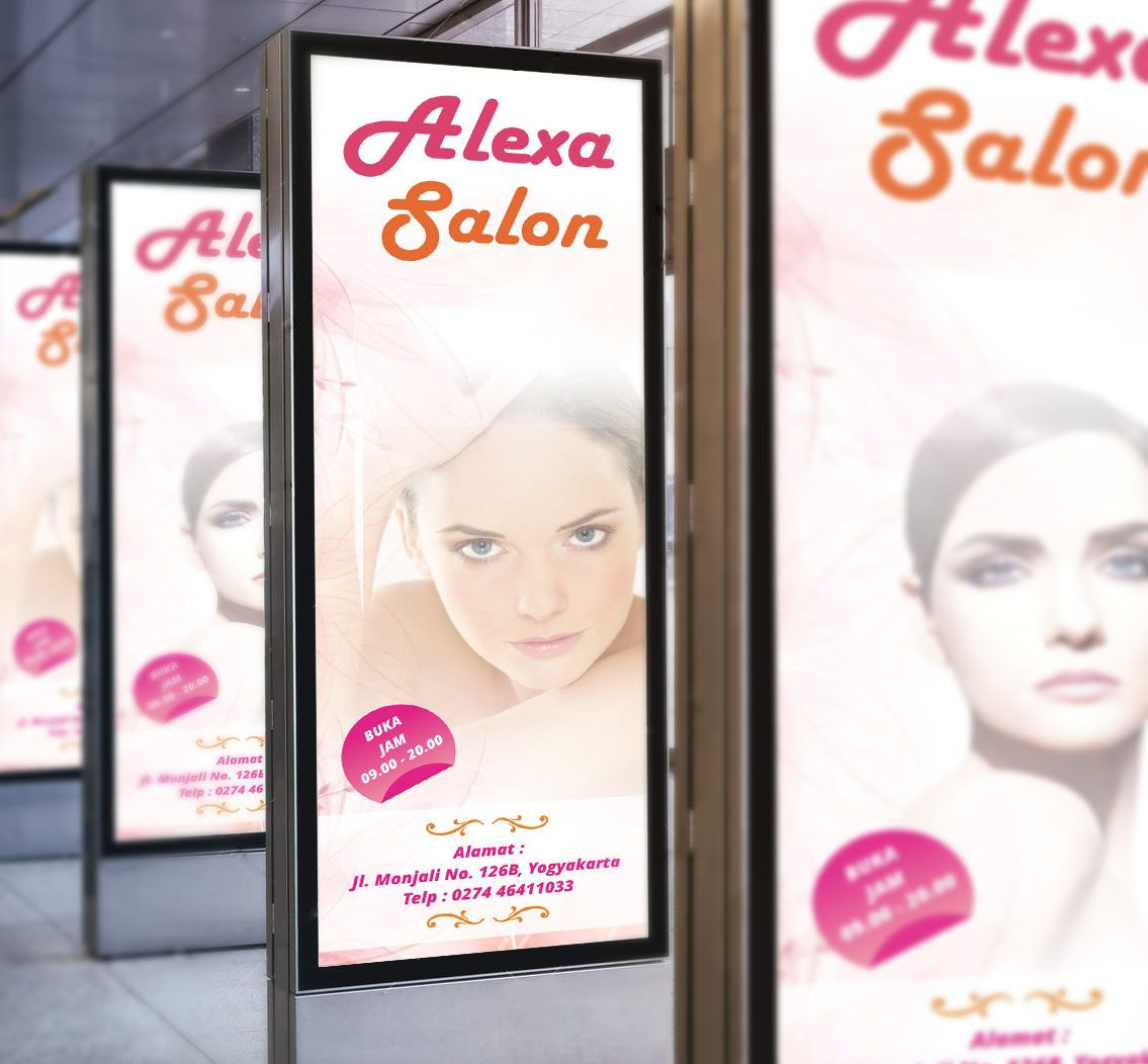 De Sain Neon Box: Visual Neon Box Alexa Salon