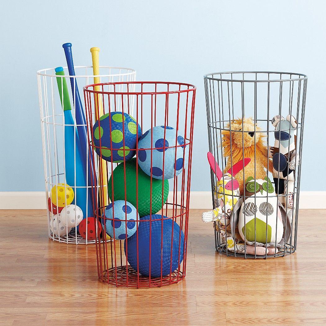 Wire Ball Bin Storage | Wire Ball Bin Home Pinterest Ball Storage Kids Storage And