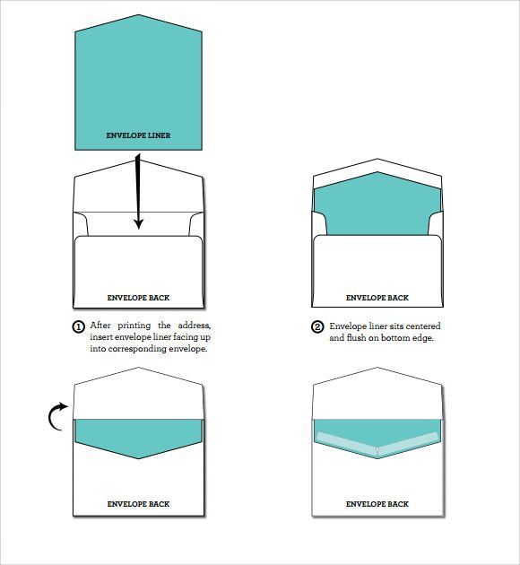 Free Envelope Liner Template  Diy    Envelopes Template
