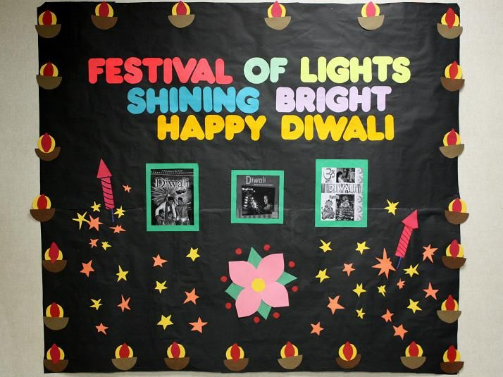 Diwali bulletin board