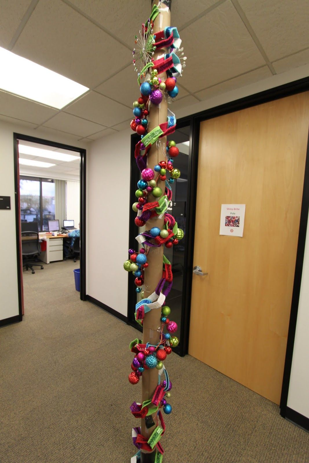 pole office christmas decorating contest ideas