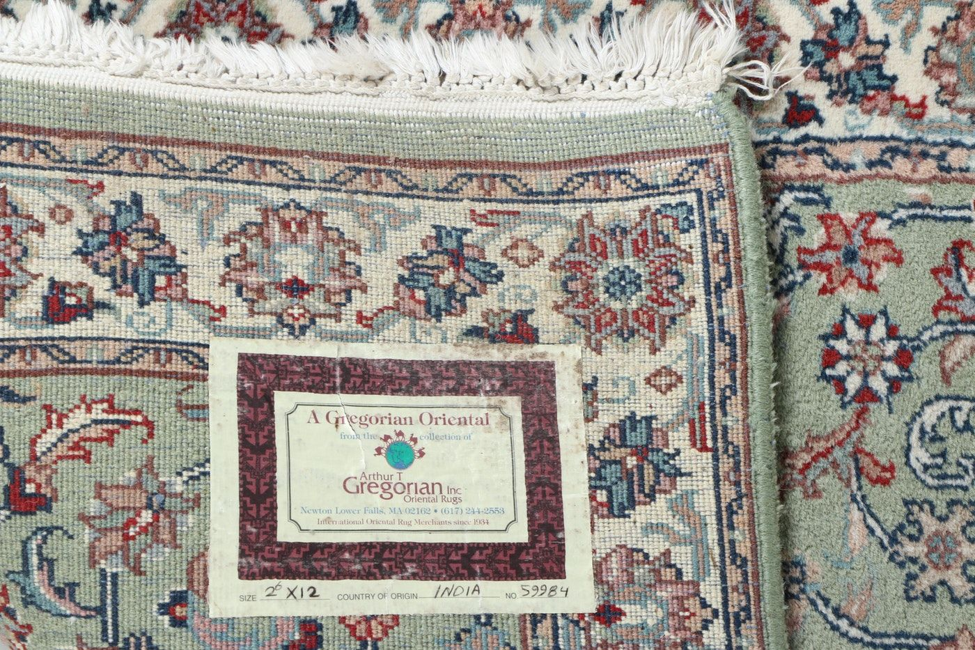 Hand Knotted Indian Wool Carpet Runner From Arthur T Gregorian Wool Carpet Carpet Runner Carpet