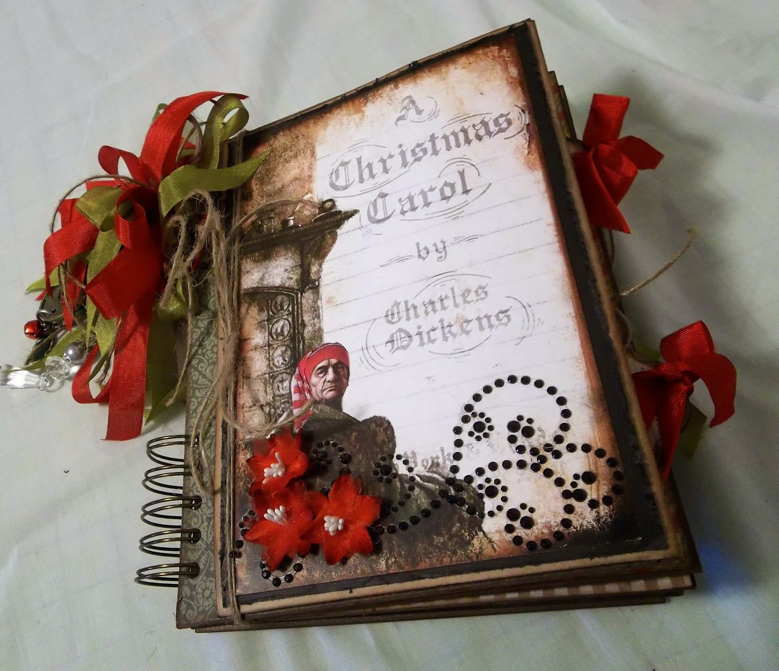 design and create a mini album art cover pages here are two albums i made using dreamz etc s dickens christmas carol digital paper kit be sure to check out jen s esty creative