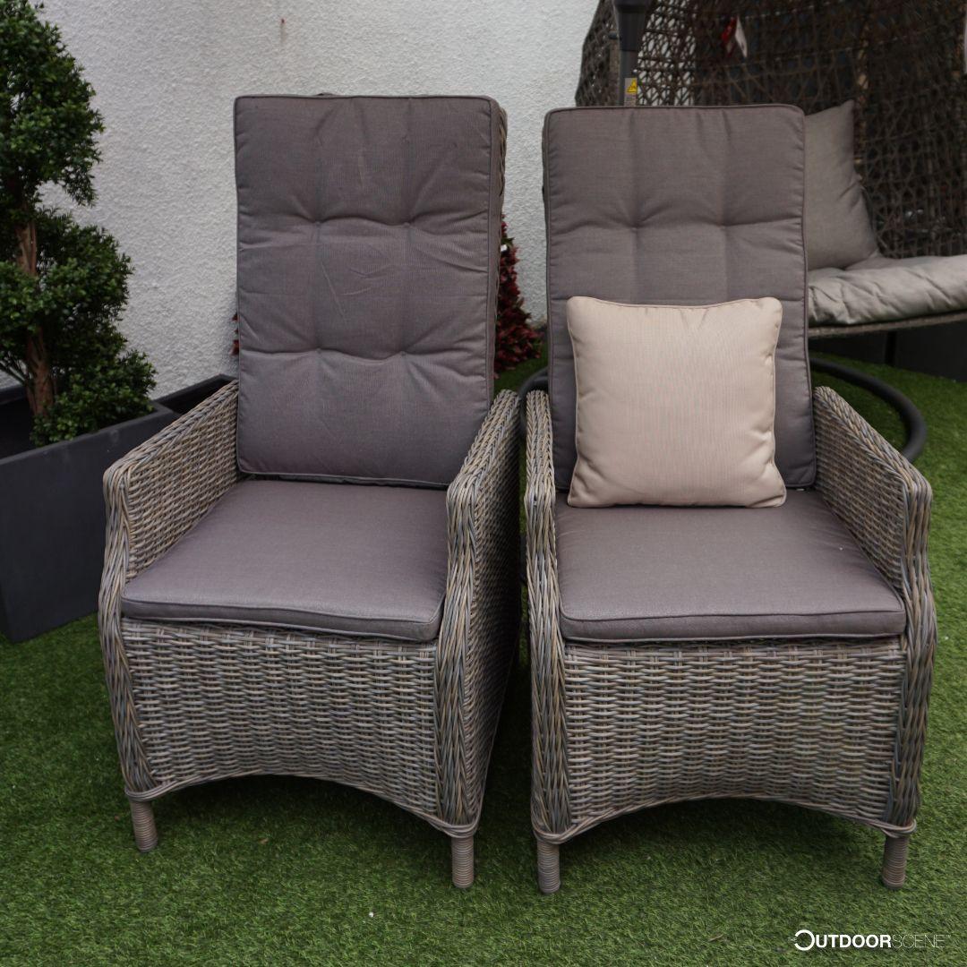 Empoli Reclining Chair Garden sofa set, Rattan garden