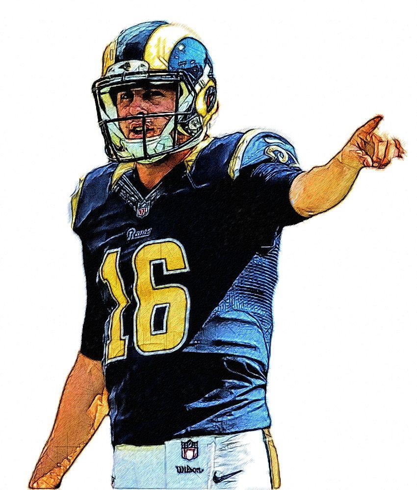 Jared Goff Rams Qb Rams Football Football Football Illustration