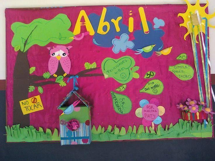 Ideas para el peri dico mural del mes de abril 6 for Amenidades para periodico mural
