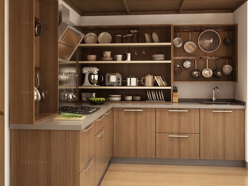 L shaped modular kitchens online india capricoast for Kitchen cabinets quotation