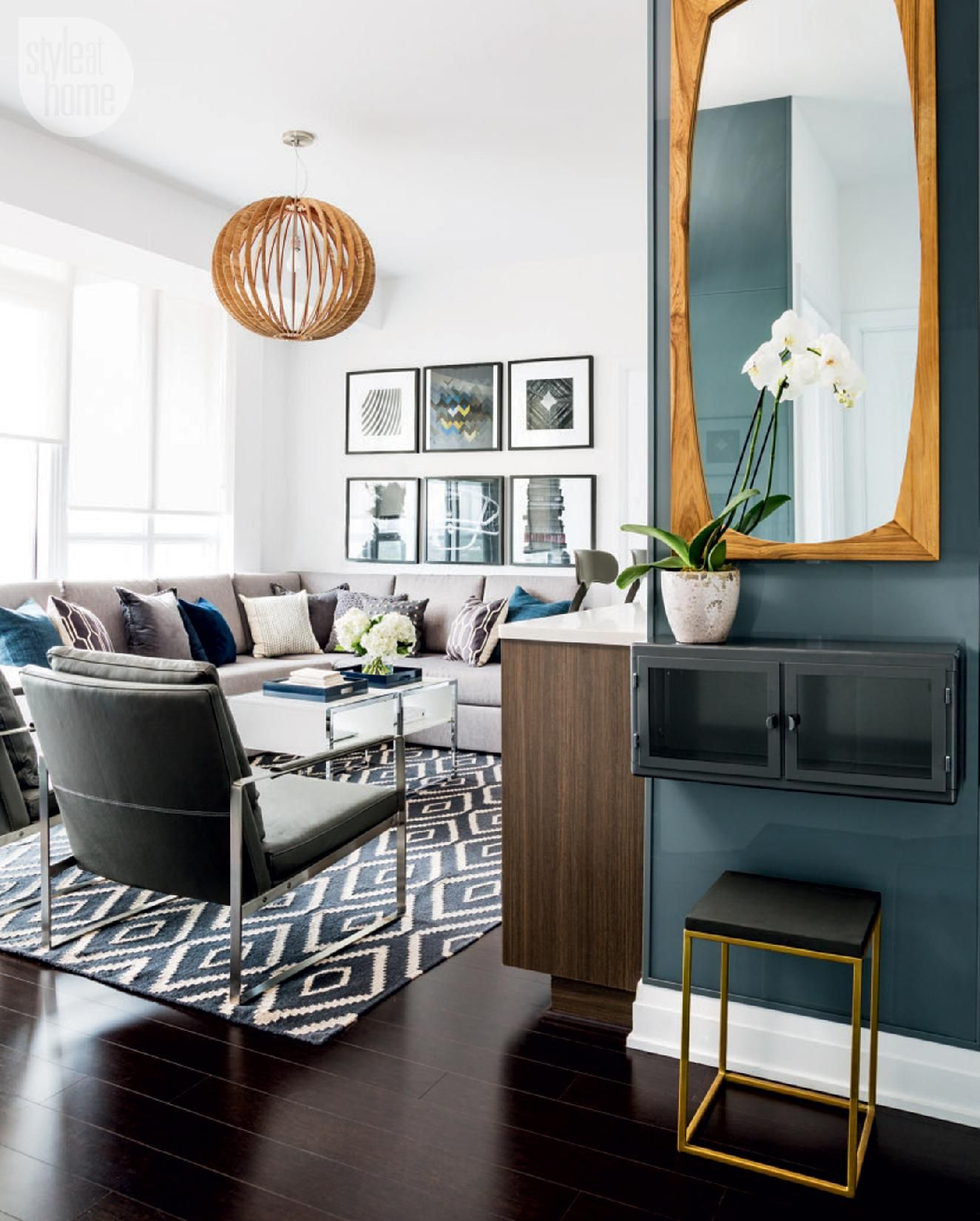 Masculine Interior Decorating: Condo Tour: Modern And Masculine Condo