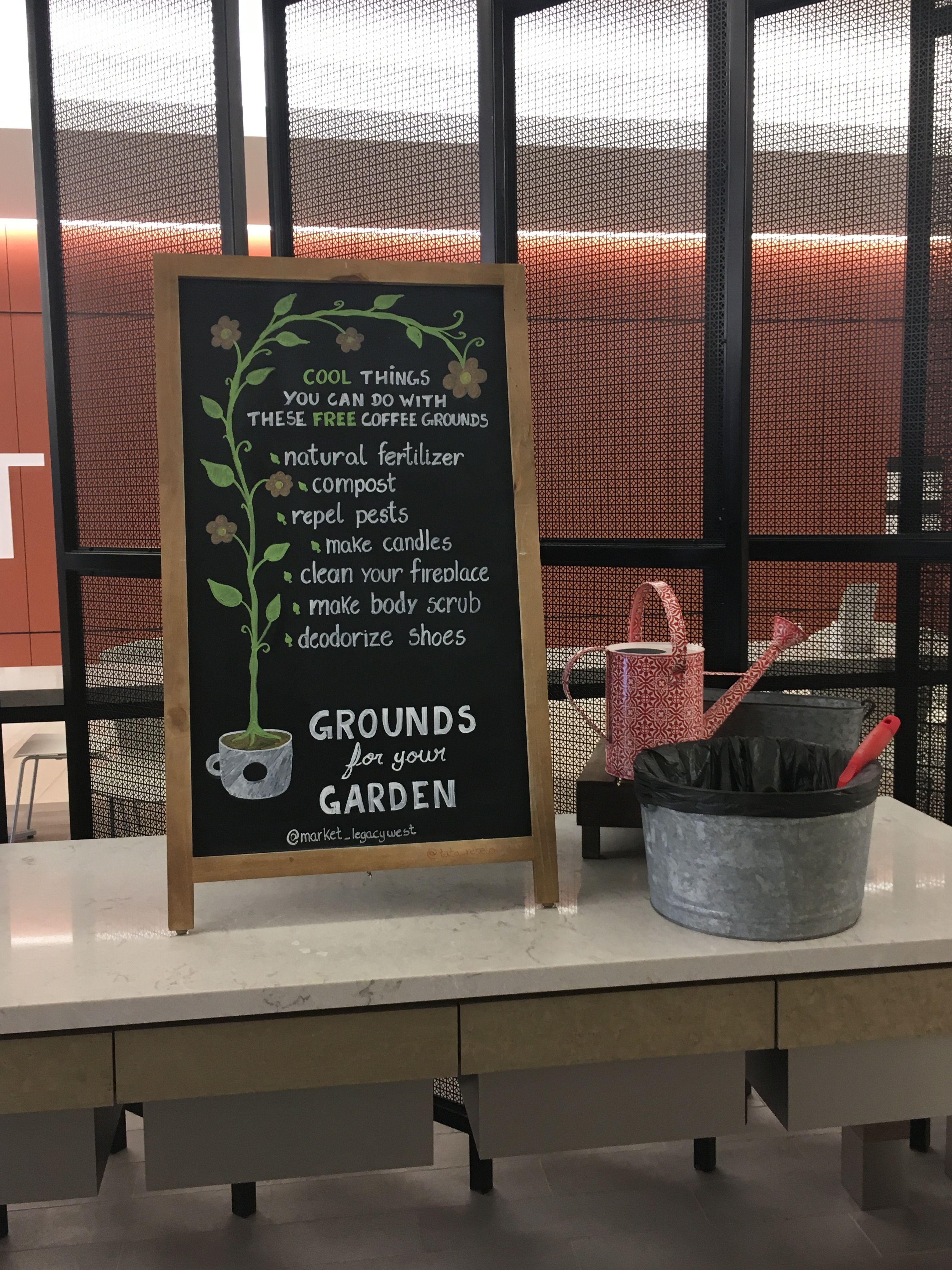 Chalkboard art Grounds for your garden Starbucks crafts