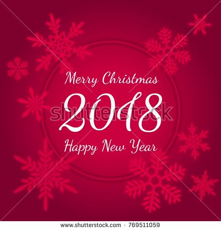 Merry christmas and happy new year 2018 holiday vector banner with merry christmas and happy new year 2018 holiday vector banner with typographic text in circular m4hsunfo