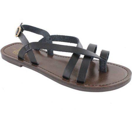 15833d4cb5e Faded Glory Women s Casual Toe Loop Flat Sandal