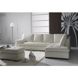 T23c Contemporary Sectional Sofa With Ottoman Leather Corner Sofa Sectional Sofa White Sectional Sofa