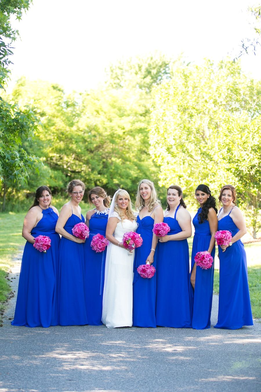 Nautical Pink And Blue Eastern Shore Wedding Blue Wedding Bright Pink Wedding Royal Blue Wedding
