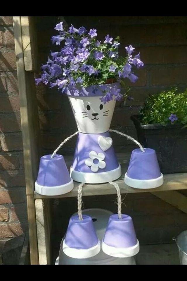 Flower Pot Person Clay Pot Crafts Terra Cotta Pot