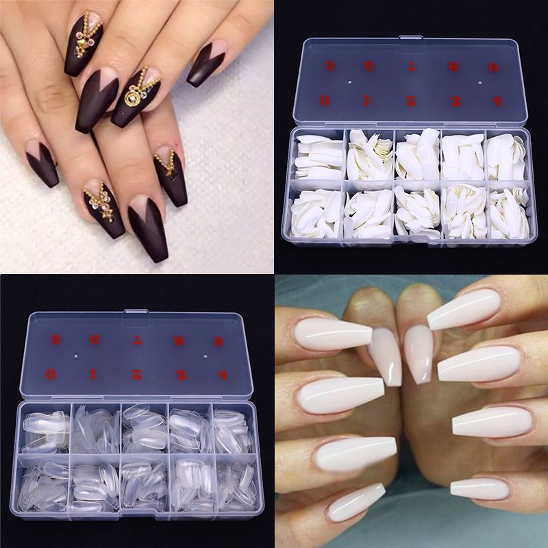 Pin by johntjackson9 on Coffin nails | Fake nails shape