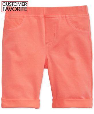 Epic Threads Little Girls' Solid Knit Bermuda Shorts