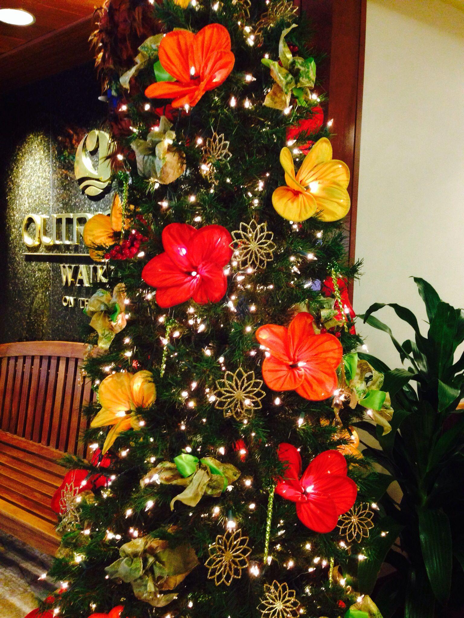 Hawaiian style Christmas tree | AaaaaaLOHaaaaaaA | Pinterest