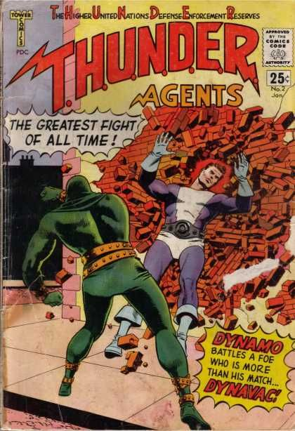 THUNDER AGENTS 2 SILVER AGE TOWER COMICS